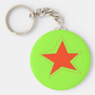 Étoile du porte - clé de semaine porte-clés