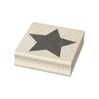 Étoile fanée de texture de denim de gloire