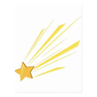 Étoile filante carte postale
