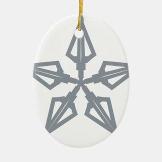 Étoile filante ornement ovale en céramique