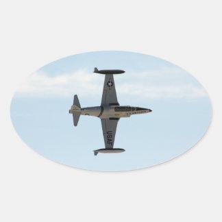 Étoile filante P-80 Sticker Ovale