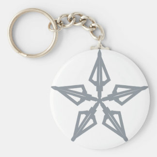 Étoile filante porte-clé rond