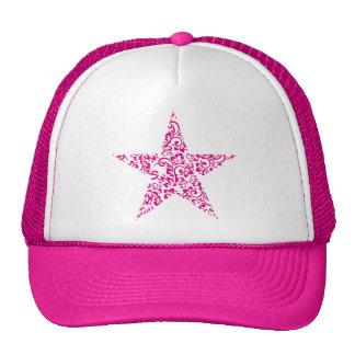 étoile florale casquette de camionneur