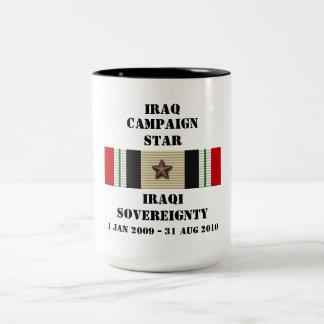 ÉTOILE irakienne   de la souveraineté/CAMPAGNE Mug Bicolore