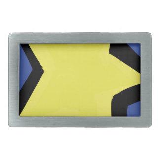 étoile jaune et un arrière - plan bleu boucle de ceinture rectangulaire