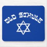 Étoile juive Mousepad de judaïsme de vieille école Tapis De Souris