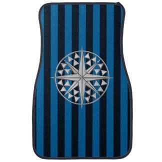 Étoile nautique de chrome sur la copie de rayures tapis de voiture