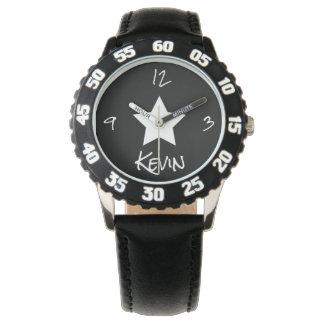 Étoile noire et blanche montres bracelet