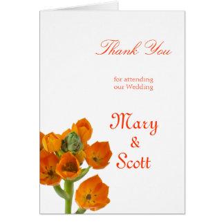 Étoile orange du mariage de Bethlehem merci Cartes De Vœux