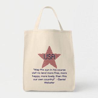 Étoile patriotique, sac de citation de Daniel