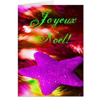 Étoile pourpre de Noël de Joyeux Noel de Noël III Cartes De Vœux