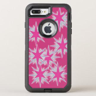 Étoile rose brillante, cas d'Otterbox Coque Otterbox Defender Pour iPhone 7 Plus