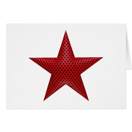 Étoile rouge 3D Cartes De Vœux