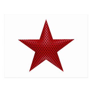 Étoile rouge 3D Carte Postale