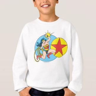 Étoile rouge de femme de merveille sweatshirt