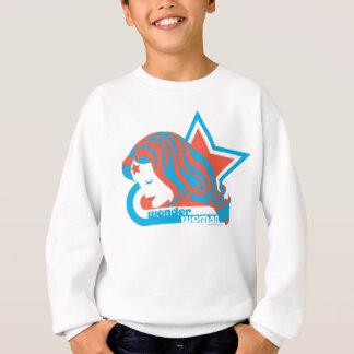 Étoile rouge et bleue de femme de merveille sweatshirt