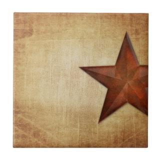 Étoile rustique de grange petit carreau carré