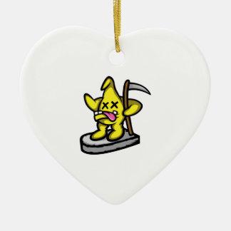 Étoile sinistre ornement cœur en céramique
