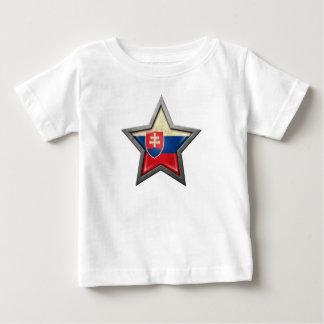Étoile slovaque de drapeau t-shirt pour bébé