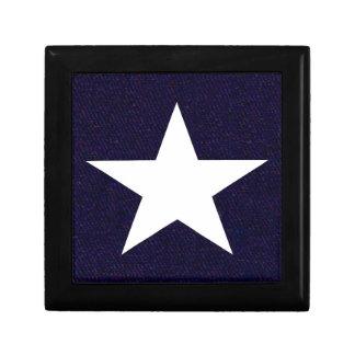 Étoile solitaire du Texas Boîte À Souvenirs