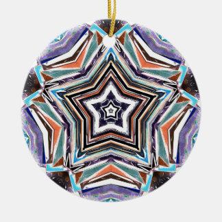 Étoile spectrale abstraite ornement rond en céramique