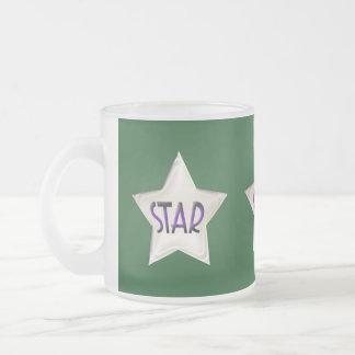 Étoile verte d'art déco tasses
