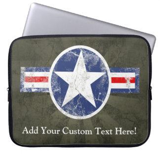 Étoile vintage patriotique des Etats-Unis de Trousse Ordinateur