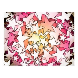étoiles 3D Cartes Postales