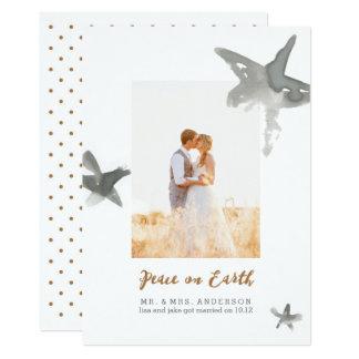 Étoiles bien aérées carton d'invitation  12,7 cm x 17,78 cm