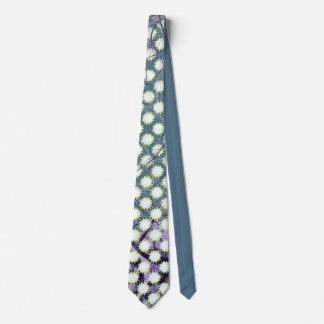 Étoiles blanches et jaunes amicales sur le bleu cravates