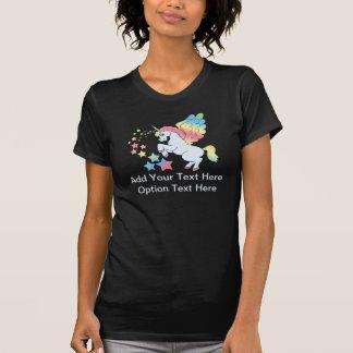 Étoiles bleues d'arc-en-ciel de licorne t-shirt