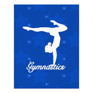 Étoiles bleues de fille de gymnastique prospectus 21,6 cm x 24,94 cm