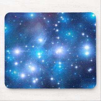 Étoiles bleues d'univers + vos idées tapis de souris