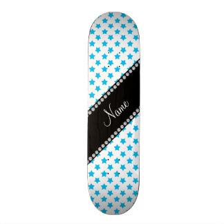Étoiles bleues nommées personnalisées skateboards cutomisables