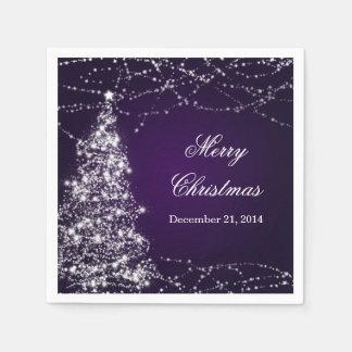 Étoiles brillantes élégantes d'arbre de Noël Serviette En Papier