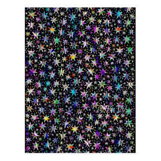 Étoiles chanceuses carte postale