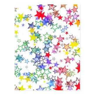 Étoiles colorées carte postale