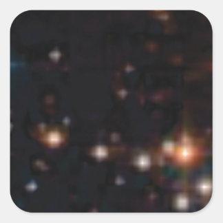étoiles dans les cieux sticker carré