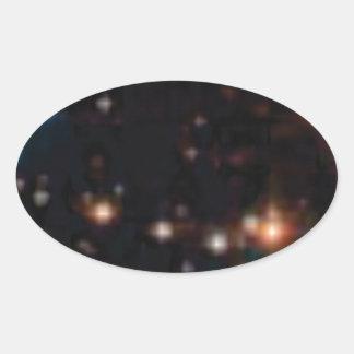 étoiles dans les cieux sticker ovale