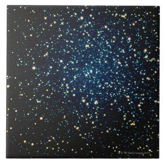 Étoiles dans l'espace 2 grand carreau carré