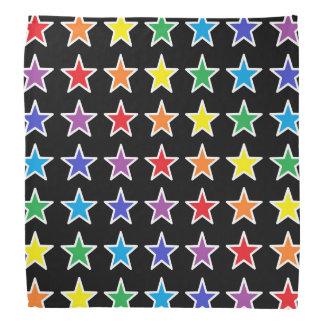 Étoiles d'arc-en-ciel décrites par blanc bandana