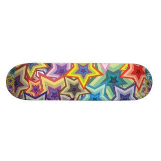 Étoiles d'arc-en-ciel skateboards personnalisables