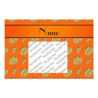 Étoiles de base-ball oranges nommées impressions photo