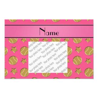 Étoiles de base-ball roses nommées personnalisées tirages photo
