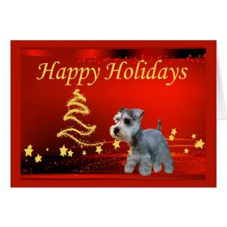 Étoiles de carte de Noël de Schnauzer miniature