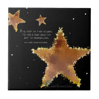 Étoiles de destin petit carreau carré