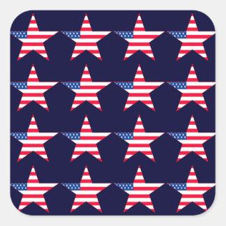 Étoiles de drapeau américain adhésifs