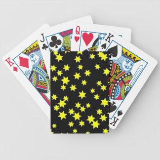 Étoiles de jaune jeux de cartes