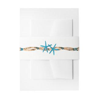 Étoiles de mer d'Aqua et mariage nautique de corde Bandeaux De Faire-part