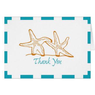 Étoiles de mer de Merci Cartes De Vœux